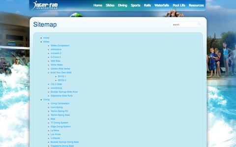 Screenshot of Site Map Page interfab.com - Sitemap - Interfab Inc. - captured Oct. 6, 2014