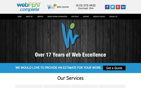 Screenshot of Home Page webfeatcomplete.com - Website Design | SEO | webFEAT Complete - captured Feb. 24, 2016