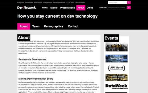 Screenshot of About Page devnetwork.com - About - DevNetwork - captured Jan. 7, 2016