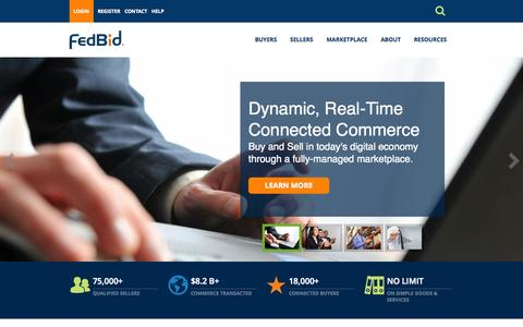 Screenshot of Home Page fedbid.com - Home Page | FedBid - captured Jan. 14, 2015