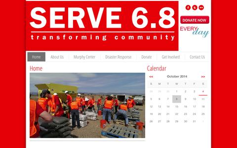 Screenshot of Home Page serve68.org - Home - SERVE 6.8 - captured Oct. 9, 2014