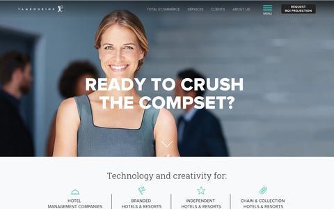 Screenshot of Home Page tambourine.com - Tambourine Hotel Marketing | Resort Marketing | Hotel Web Design - captured May 18, 2018