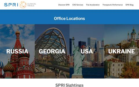 Screenshot of Locations Page spriclinicaltrials.com - Clinical Trial Office Locations | SPRI Clinical Trials - captured July 26, 2018
