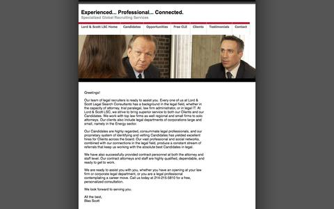 Screenshot of Contact Page lordscottlsc.com - Lord & Scott Legal Search Consultants - captured Sept. 30, 2014