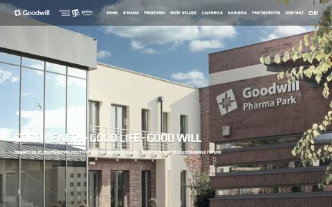 Screenshot of About Page goodwillpharma.rs - O nama - captured Sept. 29, 2018