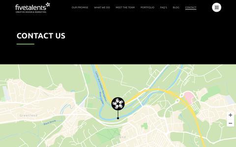 Screenshot of Contact Page fivetalents.co.uk - Contact Us - Five Talents - captured Oct. 10, 2018