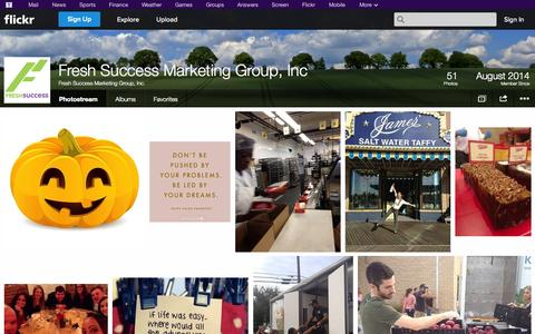 Screenshot of Flickr Page flickr.com - Flickr: Fresh Success Marketing Group, Inc.'s Photostream - captured Nov. 3, 2014