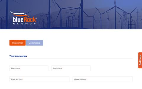 Screenshot of Signup Page bluerockenergy.com - Express Signup - BlueRock Energy - captured Nov. 3, 2018