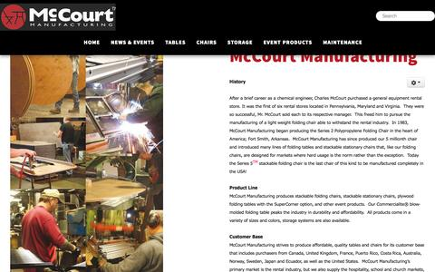 Screenshot of About Page mccourtmfg.com - About Our Company - McCourt Manufacturing, Fort Smith, AR - captured Nov. 18, 2016