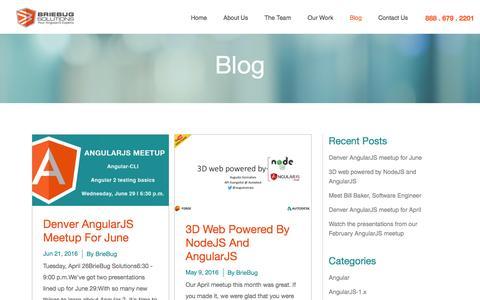 Screenshot of Blog briebugsoftwaresolutions.com - BrieBug Software Solutions | Web & Mobile App Development| AngularJS Denver | HTML5 - captured June 28, 2016