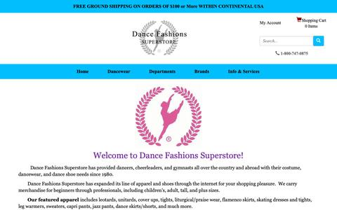 Screenshot of About Page dancefashions.com - About Us - captured Dec. 19, 2018