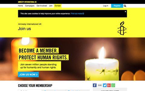 Screenshot of Signup Page amnesty.org.uk - Adult | Amnesty International UK - captured June 10, 2018