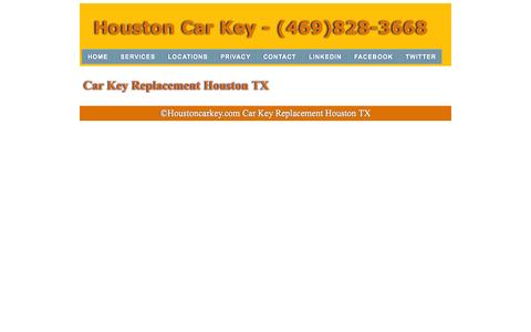 Screenshot of Services Page houstonscarkey.com - Car Key Replacement | (469)828-3668 | Houston Texas - captured Nov. 2, 2014