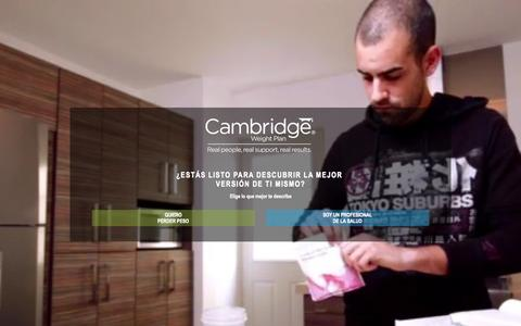 Screenshot of Home Page cwp.com.mx - Cambridge Weight plan - captured Sept. 25, 2015