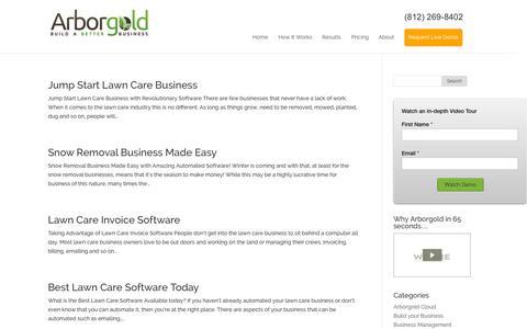 Screenshot of Blog arborgold.com - Arborgold Software Blog - captured Oct. 4, 2014