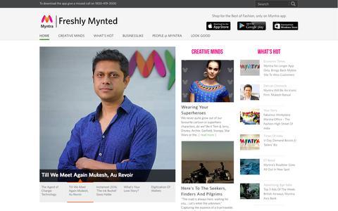 Screenshot of Blog myntra.com - Freshly Mynted | Myntra's Corporate Blog - captured Feb. 22, 2016