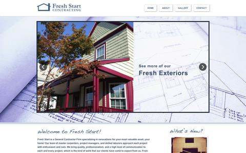 Screenshot of Home Page freshstartcorp.net - Fresh Start Contracting - captured Oct. 6, 2014