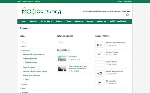 Screenshot of Site Map Page mpcconsulting.net - MPC Consulting Ltd. – Sitemap - captured Oct. 4, 2014