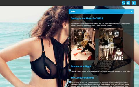 Screenshot of Press Page lovefromholland.com - News | Love from Holland - high-end erotic lingerie - captured July 23, 2018