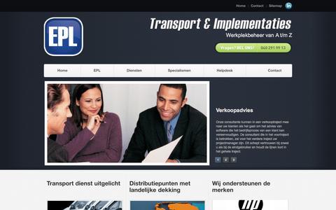 Screenshot of Home Page eplgroup.nl - EPL - Transport & Implementaties van hard- en software - captured Sept. 26, 2014