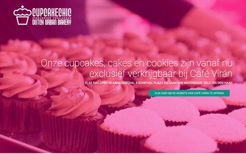 Screenshot of Home Page cupcakechic.nl - Pluto - Material UI Inspired Bootstrap Template - captured Nov. 14, 2016