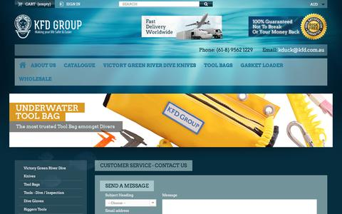 Screenshot of Contact Page kfd.com.au - Contact us - KFD Group - captured Nov. 27, 2016