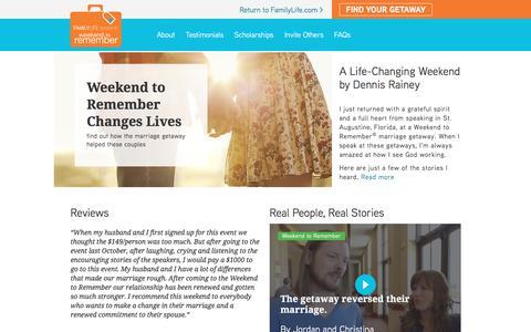 Screenshot of Testimonials Page familylife.com - Testimonials - captured June 5, 2017