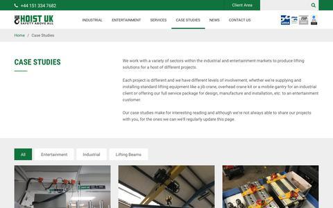 Screenshot of Case Studies Page hoistuk.com - Case Studies - Hoist UK - captured July 20, 2018