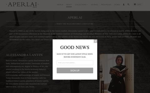 Screenshot of About Page aperlai.com - About Us                           | APERLAI - captured Sept. 30, 2016