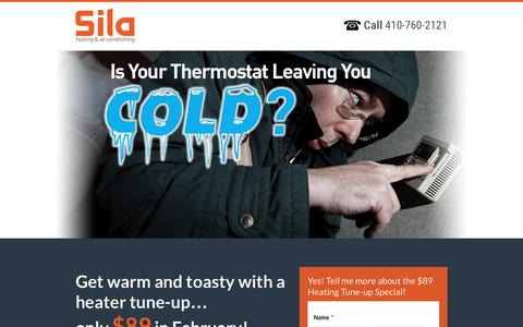 Screenshot of Landing Page sila.com - $89 Heating Tune-Up Special! - captured Oct. 19, 2016