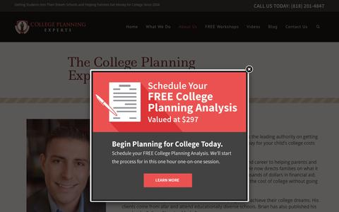Screenshot of Team Page collegeplanningexperts.com - College Planning Expert Team - captured May 20, 2017