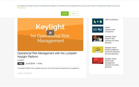 Screenshot of Team Page lockpath.com - Operational Risk Management with the Lockpath Keylight Platform - captured Dec. 12, 2019
