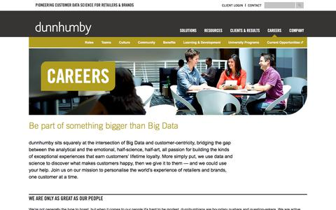 dunnhumby: Launch or Further Your Career in Big Data
