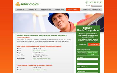 Screenshot of Contact Page solarchoice.net.au - Contact us - Solar Choice - captured Oct. 27, 2017