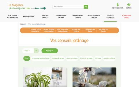 Vos conseils jardinage | Le Magazine — Gamm vert