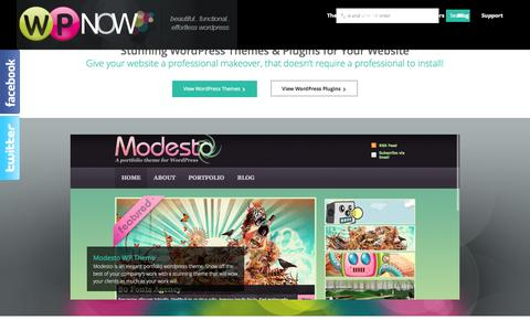 Screenshot of Home Page wpnow.com - Premium Wordpress Themes and Plugins by WP Now - captured Sept. 24, 2014