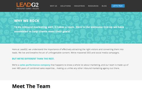Screenshot of Team Page thecenterforsalesstrategy.com - Our Team - captured Sept. 20, 2018