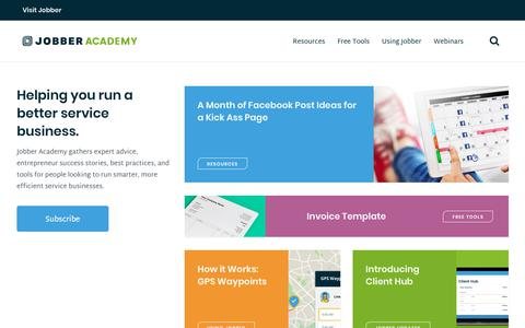 Jobber Academy | Resources for Home Service Businesses