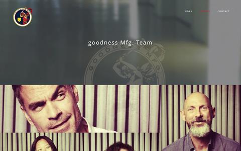 Screenshot of Team Page goodnessmfg.com - People - - captured Sept. 30, 2014