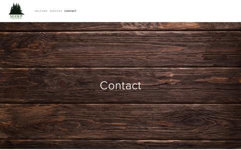 Screenshot of Contact Page midatlanticwood.com - Contact — Mid-Atlantic Wood Products - captured Dec. 20, 2018