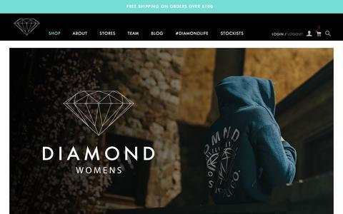 Screenshot of Home Page diamondsupplyco.com - Diamond Supply Co l Official Store - captured Dec. 27, 2015