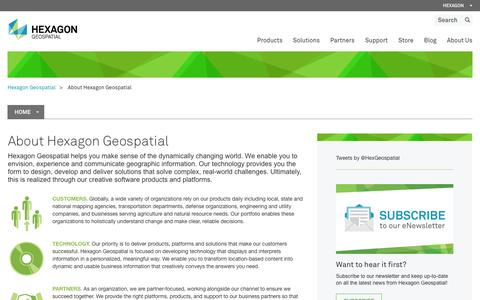 Screenshot of About Page hexagongeospatial.com - About Us - captured Jan. 29, 2016