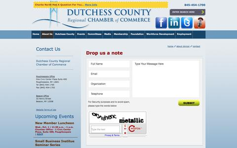 Screenshot of Contact Page dcrcoc.org - Contact - captured Sept. 24, 2014