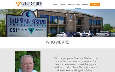 Screenshot of Team Page calendarsystems.com - Calendar Systems Inc - Our Team - captured Jan. 24, 2016