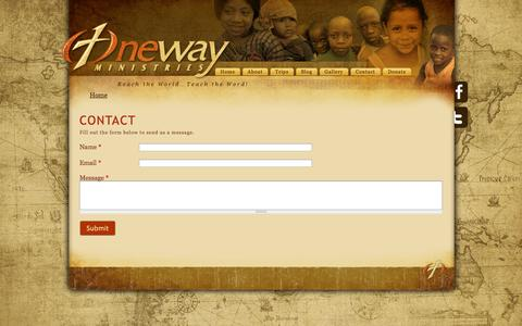 Screenshot of Contact Page 1wayministries.org - Contact | OneWay Ministries - captured Oct. 7, 2014