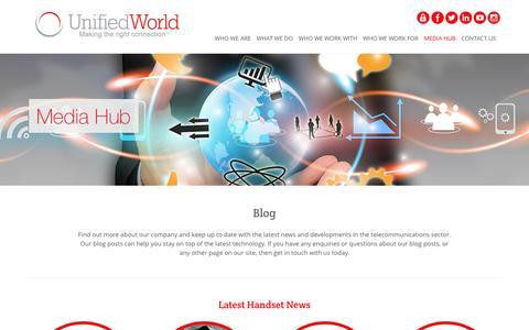 Screenshot of Blog unifiedworld.co.uk - Blog | Unified World - captured Feb. 26, 2016