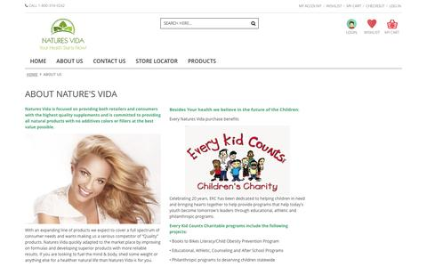 Screenshot of About Page naturesvida.com - About Us - captured Oct. 27, 2014