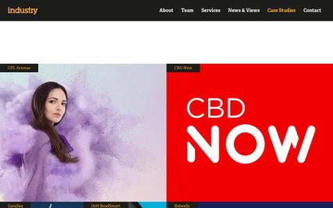 Screenshot of Case Studies Page industrybranding.com - Case Studies - We build  brand advantage | Industry - captured Nov. 6, 2018