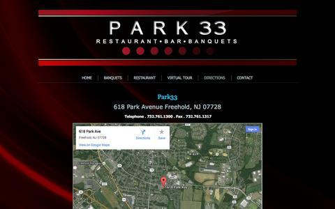 Screenshot of Maps & Directions Page park33.com - Directions | Park 33 - captured Sept. 27, 2014