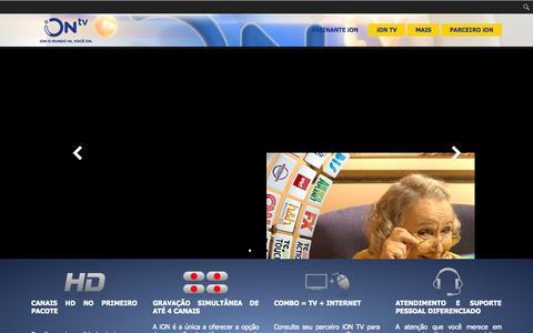 Screenshot of Home Page iontv.com.br - iON TV - captured Sept. 5, 2015
